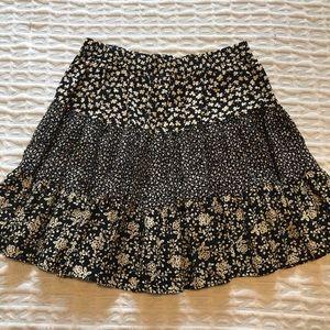 Vintage Hi Waisted Floral Skirt